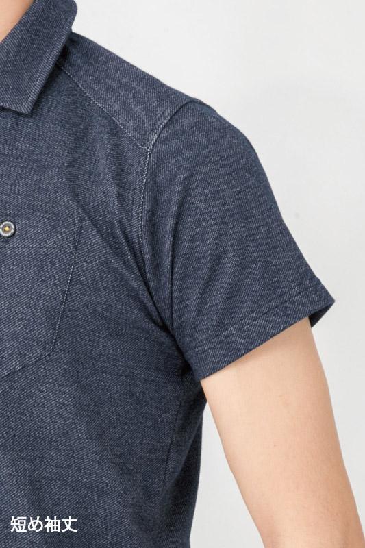 【GLADIATOR】デニムフィール半袖ポロシャツ