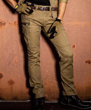 作業服の通販の【作業着デポ】【GLADIATOR】ストレッチコードピケカーゴパンツ(男女兼用)