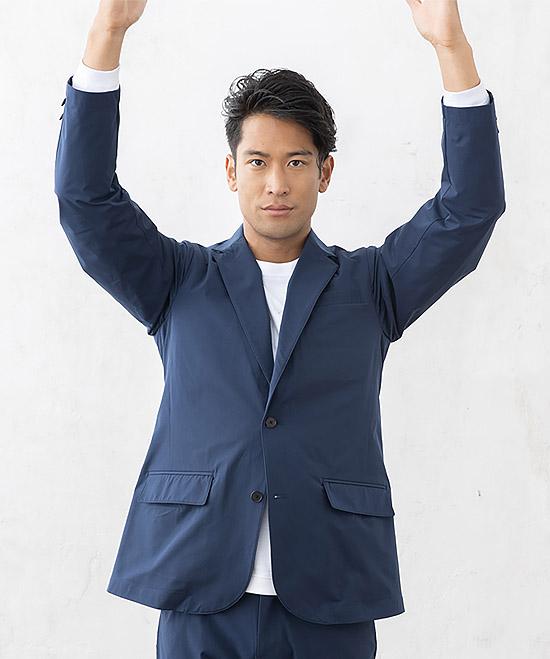 【GLADIATOR】スーツ型作業服 ワークスーツジャケット(通年・ストレッチ)