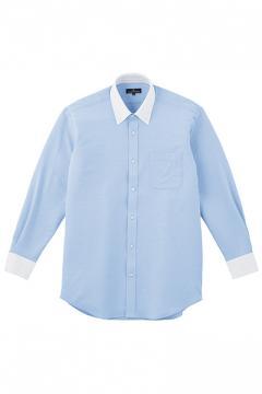 ユニフォームや制服・事務服・作業服・白衣通販の【ユニデポ】Z長袖クレリックシャツ