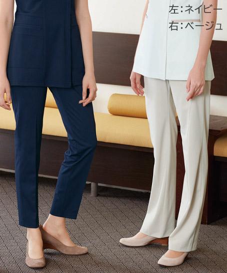 【ナガイレーベン】女子パンツ(ストレート・ノータック・脇ゴム入り)