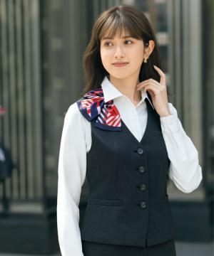 ユニフォームや制服・事務服・作業服・白衣通販の【ユニデポ】ベスト(レインストライプ)