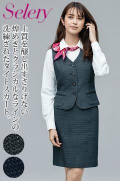 【全2色】タイトスカート(トゥインクルボーダー)