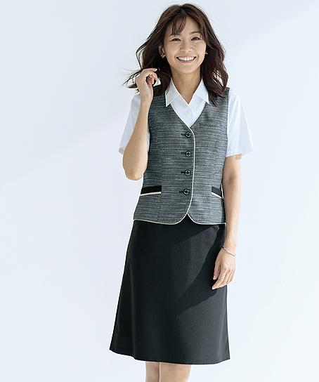 【2色】Aラインスカート(プレミアムニット)