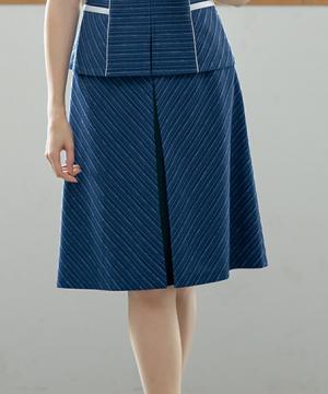 【2色】Aラインスカート(リフレッシングボーダー)