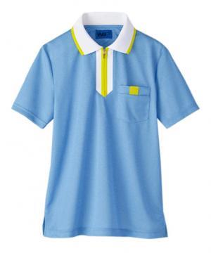 【全3色】ポロシャツ(ファスナー開き・男女兼用)