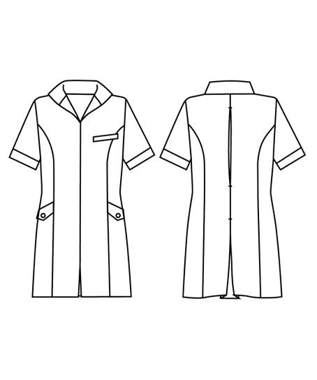 スタンドカラージャケット(モノトーンチドリ)