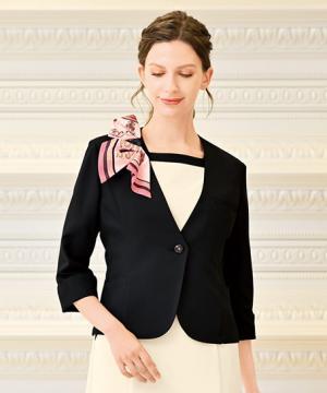ノーカラーマルチジャケット(七分袖)