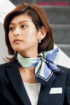 ユニフォームや制服・事務服・作業服・白衣通販の【ユニデポ】【2色】ロングスカーフ