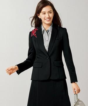 事務服用ユニフォームの通販の【事務服デポ】【3色】美形ニットジャケット(Lady KNIT)