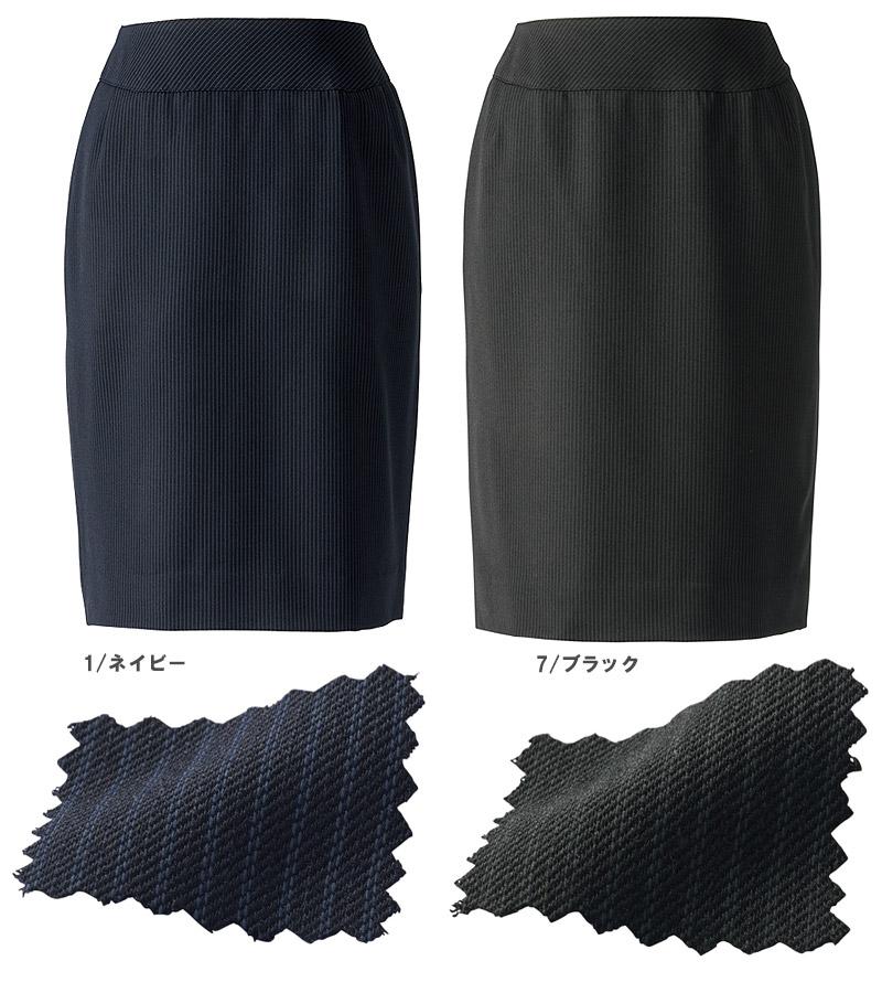 【全2色】美形タイトスカート(美ストレッチシリーズ・クールストライプ)