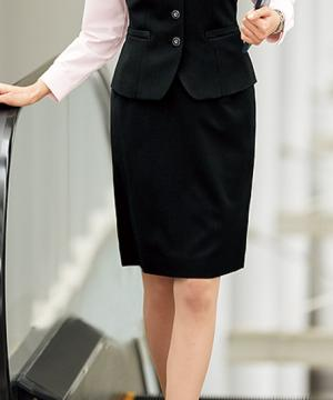 【2色】美形タイトスカート(美ストレッチシリーズ・クールストライプ)