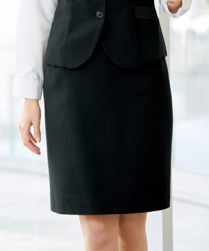 ユニフォームや制服・事務服・作業服・白衣通販の【ユニデポ】【全2色】美形タイトスカート(シャドーチドリ)