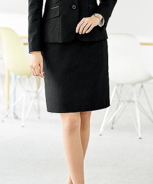 ユニフォームや制服・事務服・作業服・白衣通販の【ユニデポ】【2色】美形タイトスカート(ピンドット)