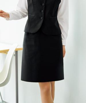 ユニフォームや制服・事務服・作業服・白衣通販の【ユニデポ】【2色】美形Aラインスカート(ピンドット)
