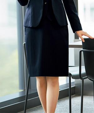 事務服用ユニフォームの通販の【事務服デポ】美形タイトスカート(レーシーストライプ)
