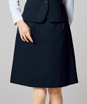 事務服用ユニフォームの通販の【事務服デポ】美形Aラインスカート(レーシーストライプ)