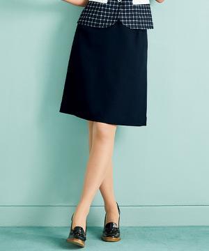 ユニフォームや制服・事務服・作業服・白衣通販の【ユニデポ】【2色】美形Aラインスカート(エアーストレッチ)