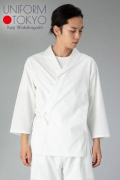 【UNIFORM.TOKYO】メンズ調理衣(ショールカラー・袖口影ゴム入り)