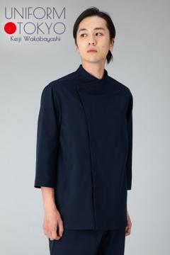 【UNIFORM.TOKYO】メンズコックコート(スタンドカラー・七分袖)