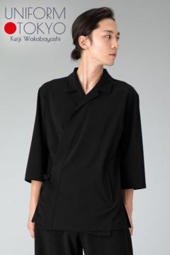 【UNIFORM.TOKYO】メンズ調理衣(開襟・五分袖)
