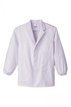 男性用長袖調理衣 (袖口ゴム仕様)