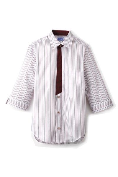 七分袖シャツ(ストライプ)