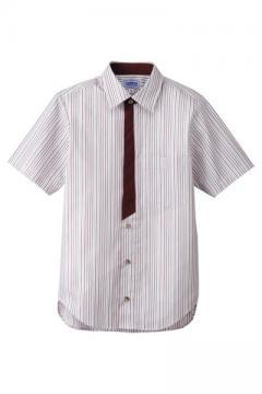 コックコート・フード・飲食店制服・ユニフォームの通販の【レストランデポ】半袖シャツ(ストライプ)