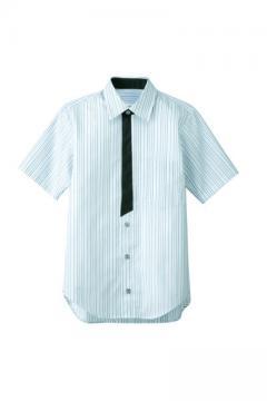 エステサロンやリラクゼーションサロン用ユニフォームの通販の【エステデポ】半袖シャツ(ストライプ)