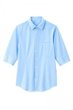 ユニフォームや制服・事務服・作業服・白衣通販の【ユニデポ】男女兼用シャツ五分袖