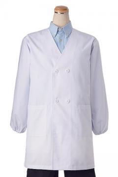 ユニフォームや制服・事務服・作業服・白衣通販の【ユニデポ】ダブル型給食衣(O-157対応抗菌加工)