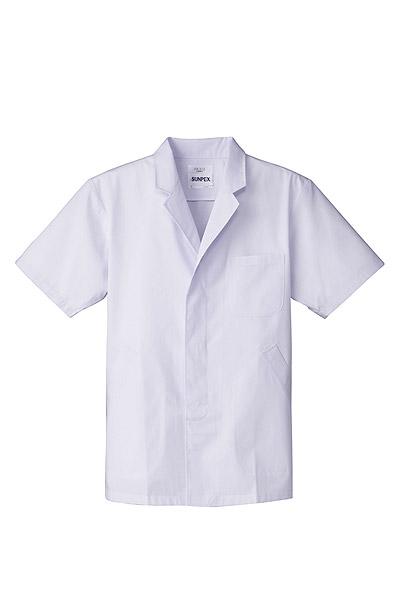 抗菌男性用半袖調理衣