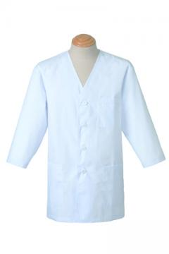 コックコート・フード・飲食店制服・ユニフォームの通販の【レストランデポ】男性用七分袖白衣