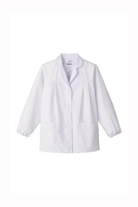 女性用長袖調理衣(抗菌加工)