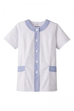 ユニフォームや制服・事務服・作業服・白衣通販の【ユニデポ】女性用デザイン白衣 半袖