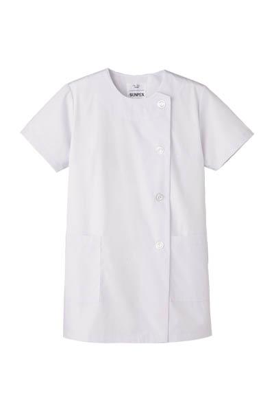 女性用横掛白衣 半袖