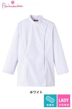 女性用ケーシー 白衣(長袖・制菌)