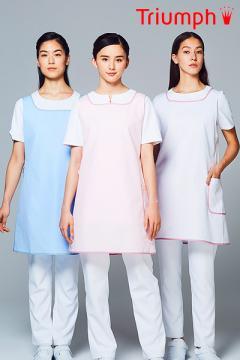 ユニフォームや制服・事務服・作業服・白衣通販の【ユニデポ】【全3色】2WAYエプロン[女](Triumph)