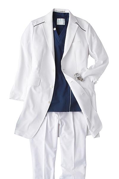 ドクターコート白衣【男】(軽量・高機能素材)