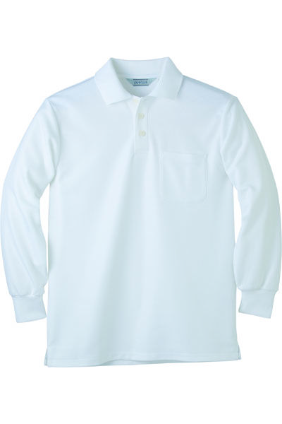 長袖メッシュポロシャツ