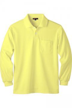 ユニフォームや制服・事務服・作業服・白衣通販の【ユニデポ】長袖ポロシャツ(ストレッチ・ドライ・UVカット)