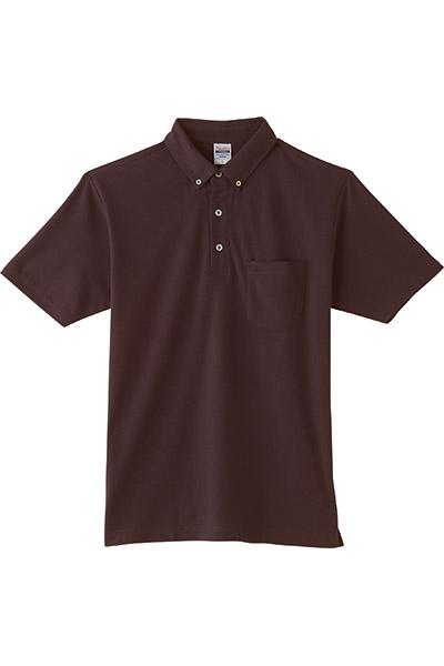 4.9オンスボタンダウンポロシャツ(ポケット付)