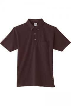 作業服の通販の【作業着デポ】4.9オンスボタンダウンポロシャツ(ポケット付)