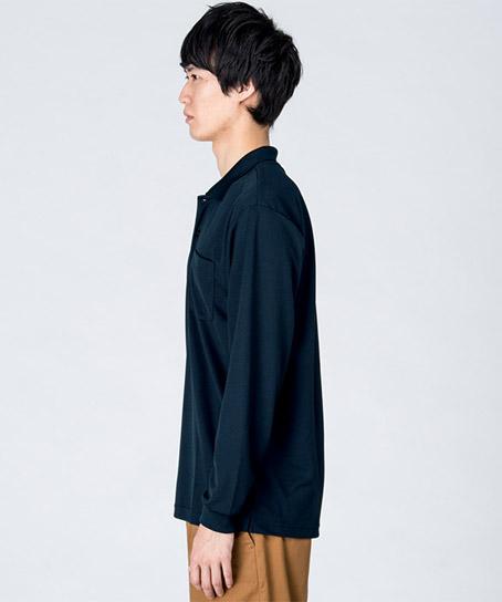 【全10色】ドライ長袖ポロシャツ(ポケット付)