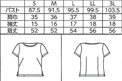 【5色】WP304【半袖ちゃんとT】3枚セット サイズ詳細
