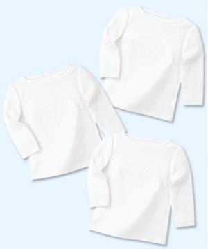 ユニフォームや制服・事務服・作業服・白衣通販の【ユニデポ】【全5色】WP354【七分袖ボートネックT】3枚セット