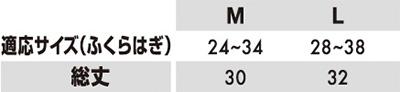 【TS DESIGN】FLASHパワーソックス サイズ詳細