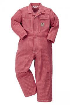 作業服の通販の【作業着デポ】【全2色】キッズツナギ服(ヒッコリー)
