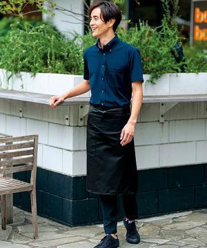 【WEB期間限定セール】【8色】ミドル丈エプロン(ユニセックス/丈:58cm)
