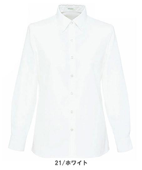 【全4色】長袖ブラウス(台襟付きシャツカラー)